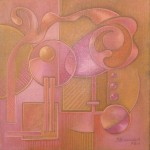 """carré rose 2"" 30x30 - 2004"